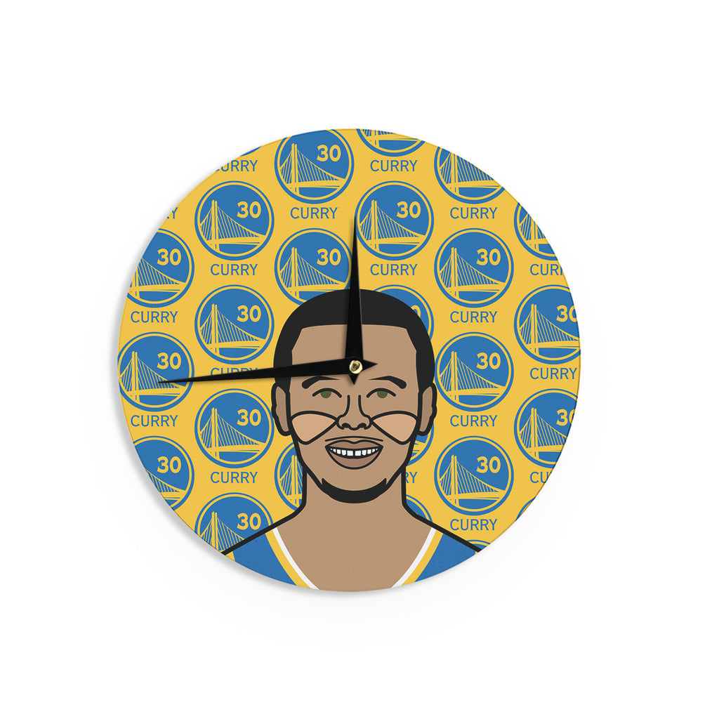 Will wild steph curry yellow sports wall clock kess inhouse will wild steph curry yellow sports wall clock kess inhouse amipublicfo Gallery