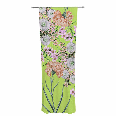 "Zala Farah ""Natural Beauty"" Green Floral Digital Decorative Sheer Curtain"