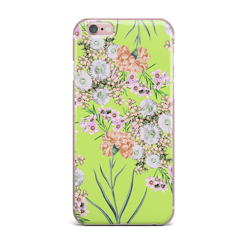 "Zala Farah ""Natural Beauty"" Green Floral Digital iPhone Case"