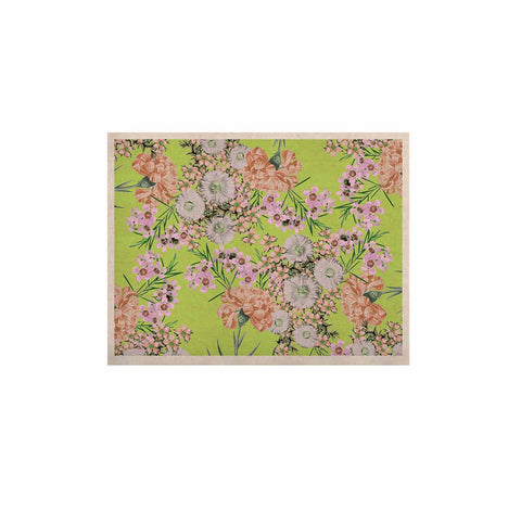 "Zala Farah ""Natural Beauty"" Green Floral Digital KESS Naturals Canvas (Frame not Included)"