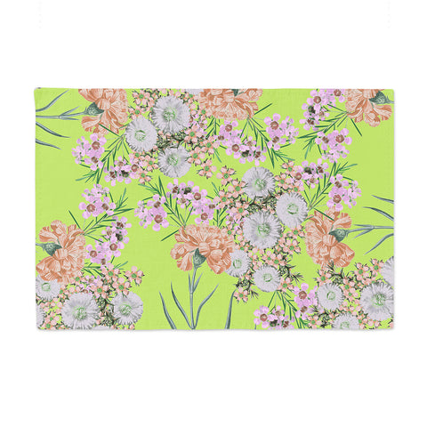 "Zala Farah ""Natural Beauty"" Green Floral Digital Place Mat"