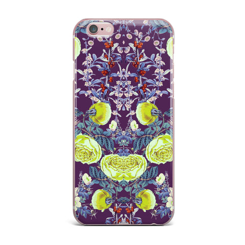 "Zala Farah ""The Bright Night Garden"" Pink,Green,Floral,Digital iPhone Case"