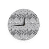 "Zara Martina Mansen ""A Touch of Memphis Gray"" Grey Black Wall Clock - KESS InHouse"