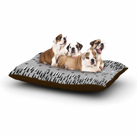 "Zara Martina Masen ""A Touch of Memphis Gray"" Grey Black Dog Bed - KESS InHouse  - 1"