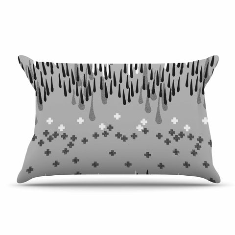 "Zara Martina Masen ""A Touch of Memphis Gray"" Grey Black Pillow Sham - KESS InHouse"