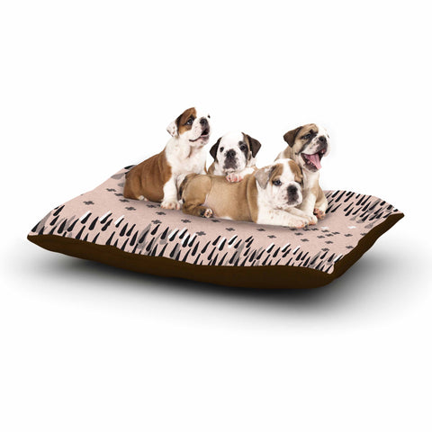 "Zara Martina Masen ""A Drop of Memphis Peach"" Pastel Black Dog Bed - KESS InHouse  - 1"