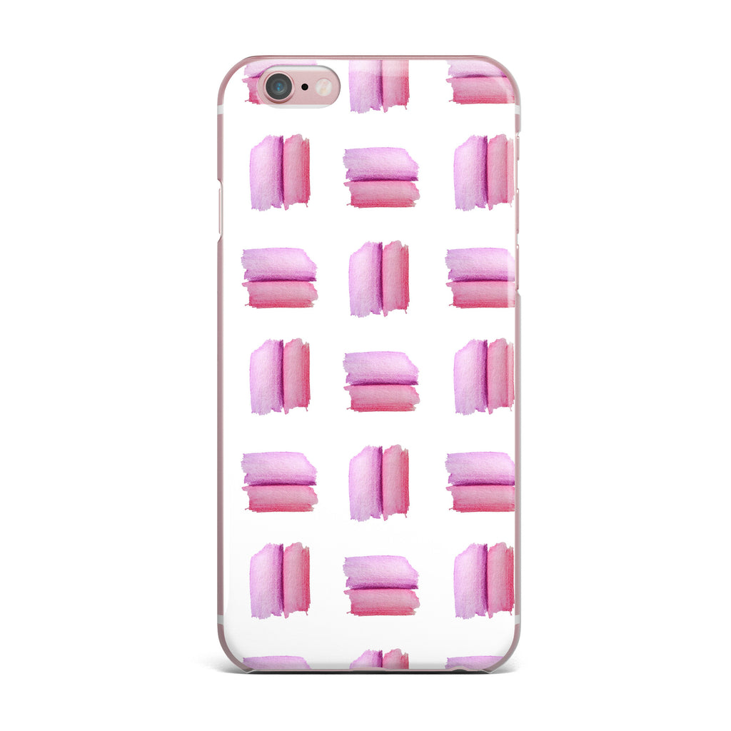 "Zara Martina ""Watercolor Patches"" Pink White Watercolor iPhone Case - KESS InHouse"