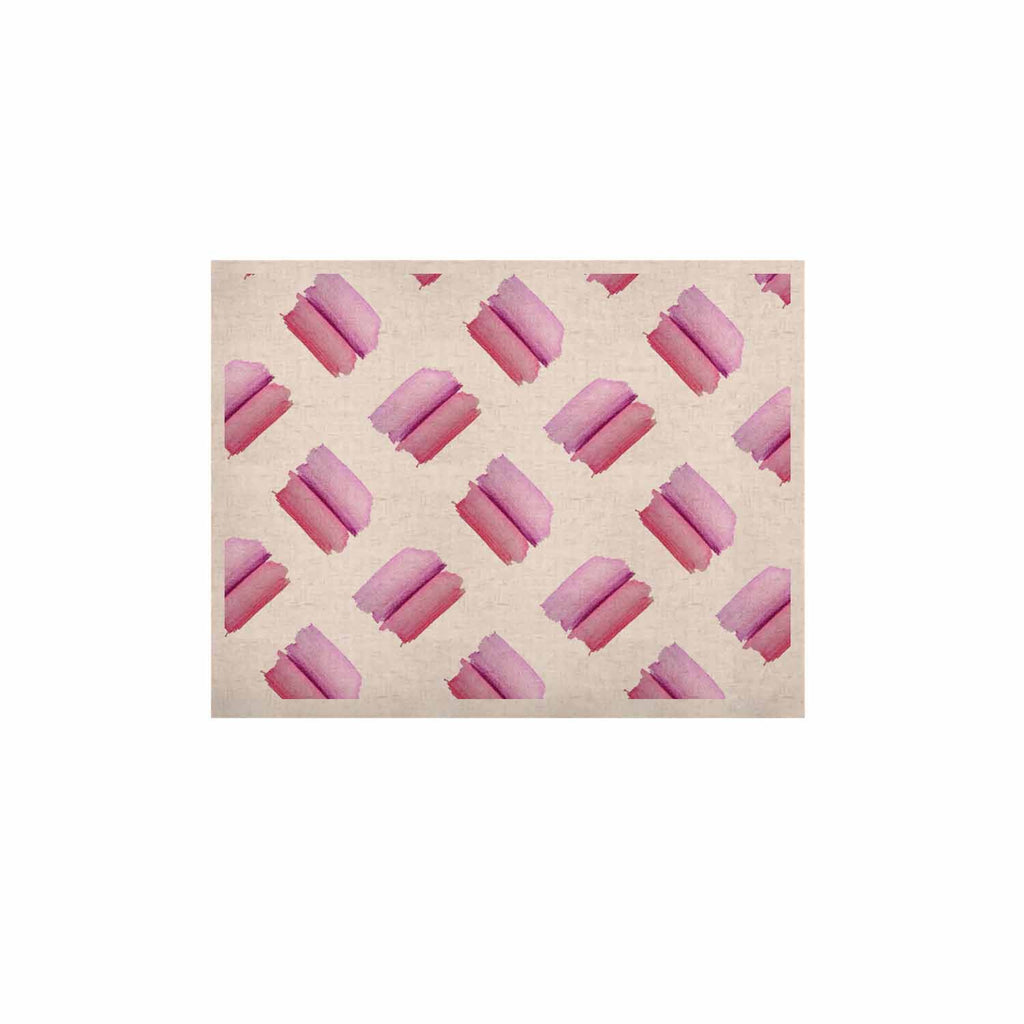 "Zara Martina Mansen ""Watercolor Patches"" Pink White Watercolor KESS Naturals Canvas (Frame not Included)"