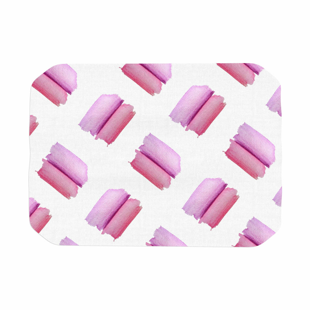"Zara Martina Mansen ""Watercolor Patches"" Pink White Watercolor Place Mat"