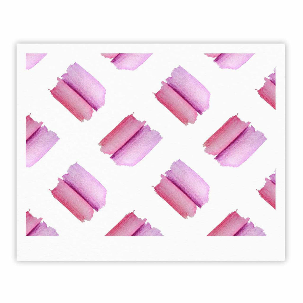 "Zara Martina Mansen ""Watercolor Patches"" Pink White Watercolor Fine Art Gallery Print"