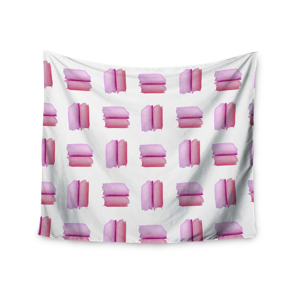 "Zara Martina ""Watercolor Patches"" Pink White Watercolor Wall Tapestry - KESS InHouse  - 1"