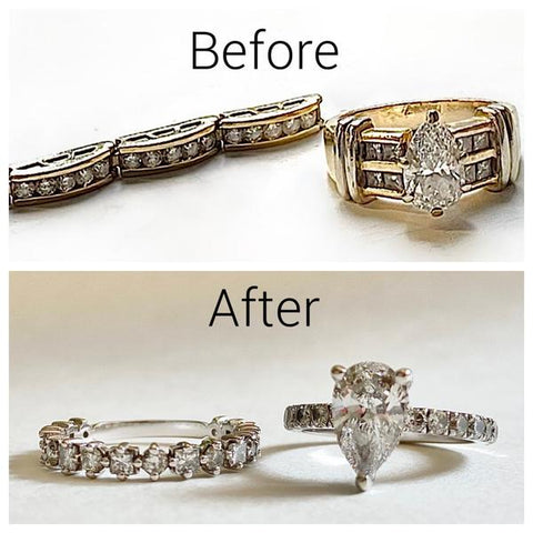 before and after custom jewelry design