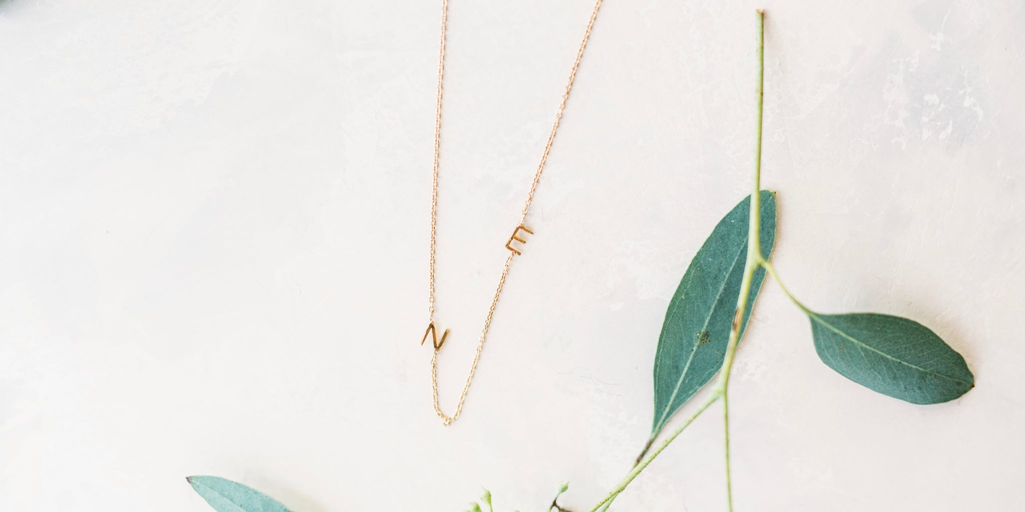 Connected Initial Necklace