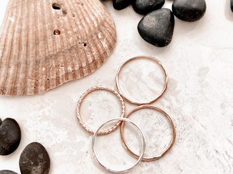 Stackable Rings by Throwing Stars Jewelry