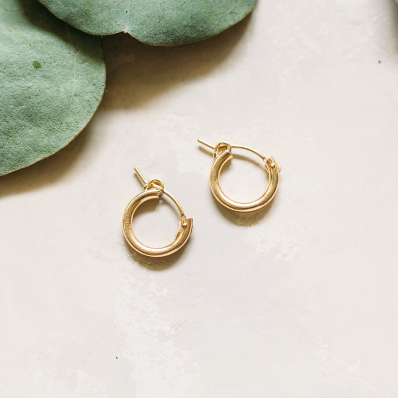 Filling the Void Hoops - Tube Hoops in 14k Gold Filled