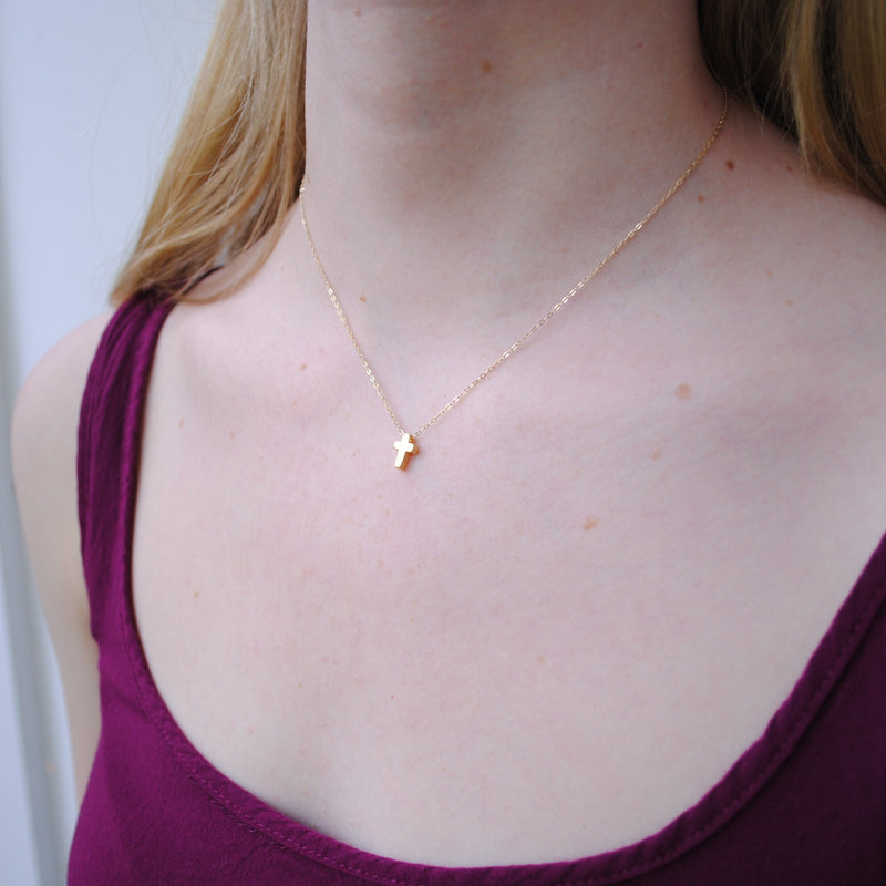 Cross Slider Necklace