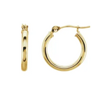 Standard Hollow Hoops with Hinged Earring Closure