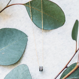 Barrel Roll CZ Necklace