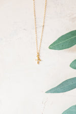 Organic CZ Cross Necklace
