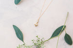 Elegant Drop - CZ Square Drop Necklace