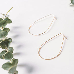 Catch Drop Hoop Earring