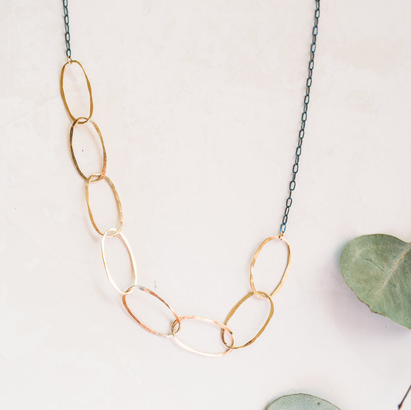 Cobblestone Hammered Necklace