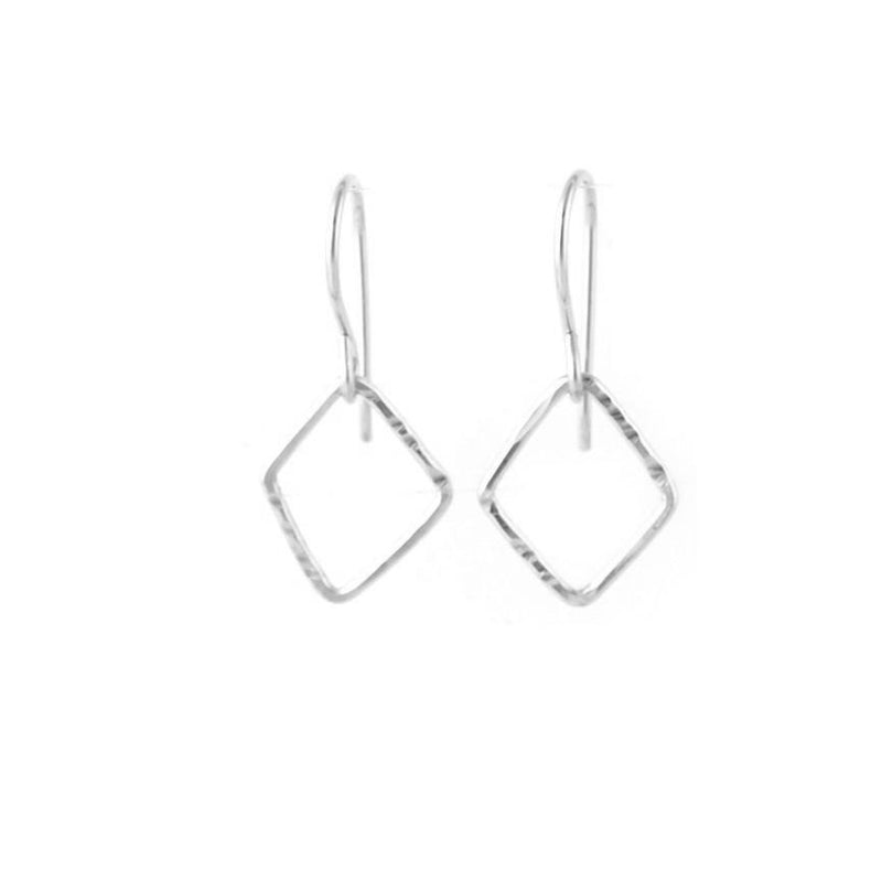Diamond Outline Drop Earrings - Small, Medium & Large