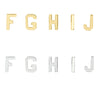Solid 14K Gold Initial Stud Earrings -