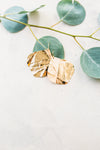Paper Hammered Lotus Drop Earrings