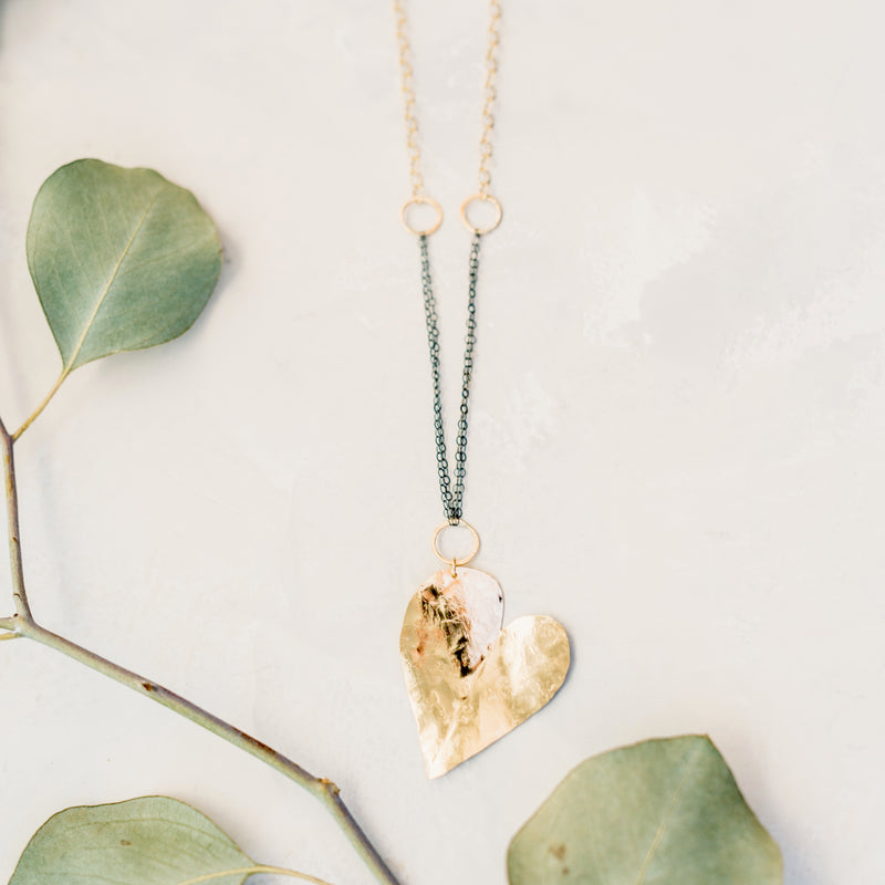 Heart On My Sleeve - Large Heart Necklace