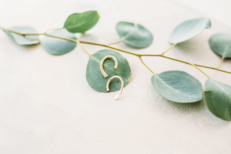 Statement Horseshoe Stud Earrings