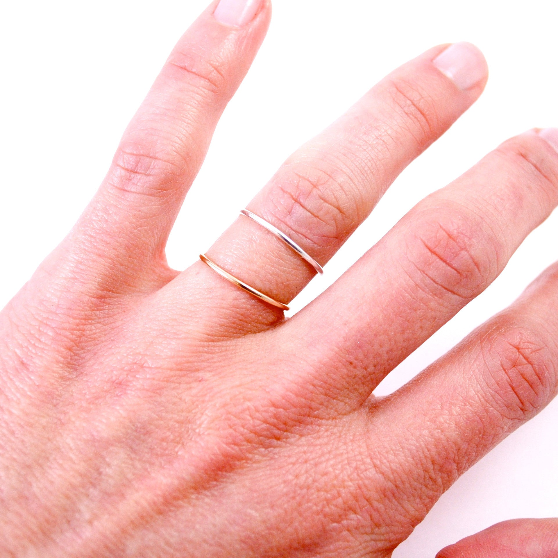 You and Me Stacking Rings - Throwing Stars Jewelry