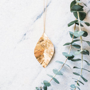 Brilliant Leaf Necklace