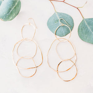 Faultless Earrings - Three to One Circle Drop Earrings