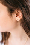 Long Loop Threader Earrings - Silver & Gold