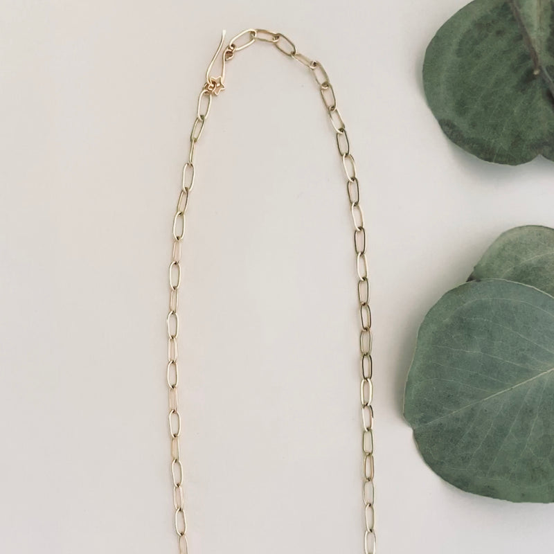 paperclip necklace clasp