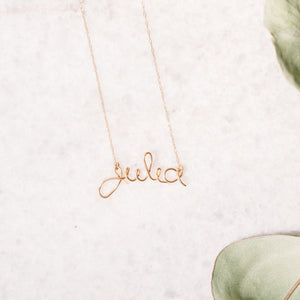 Personalized Name Necklace in Script