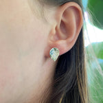 Petal Stud Earrings - 14k Gold Filled and Sterling Silver