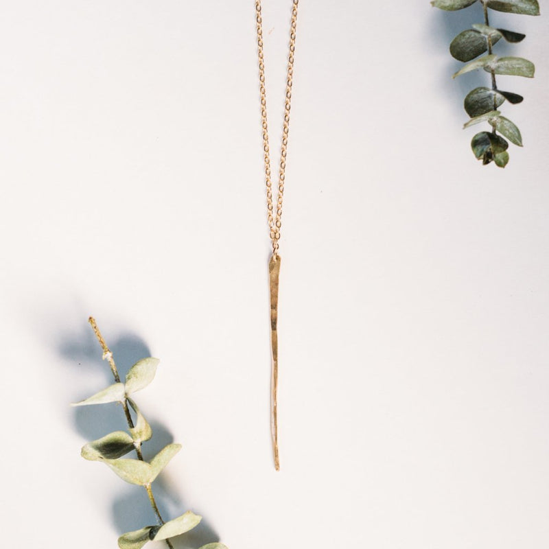 Small Hammered Spike Necklace