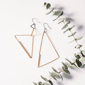 Triangular Manifesto Earrings - SALE