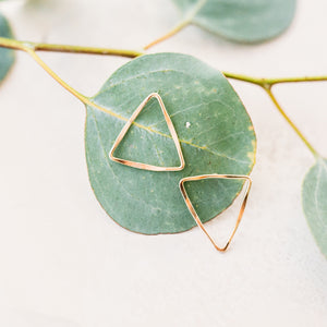 Statement Triangle Stud Earrings - Up & Down