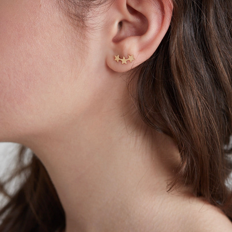 Star Climber Stud Earrings