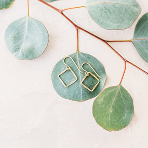 Square Drop Earrings - Small, Medium, Large, X-Large