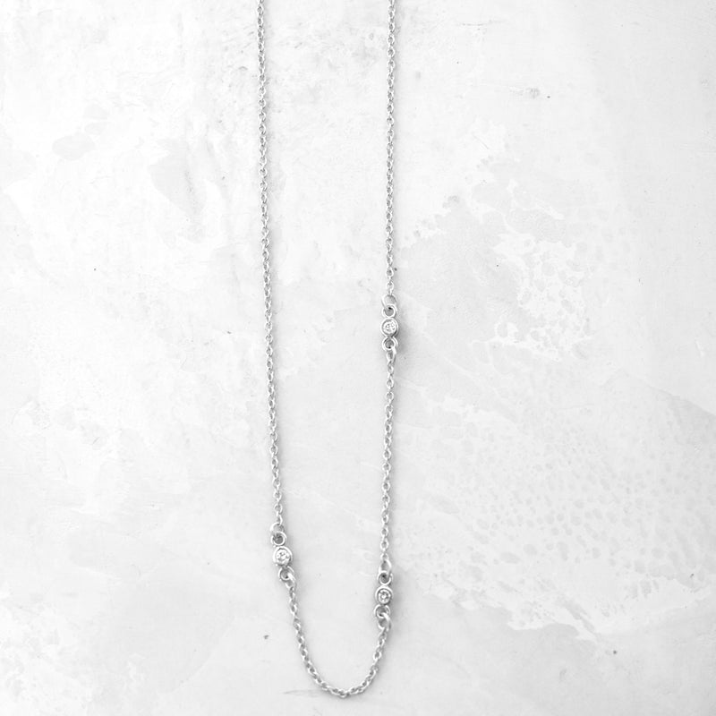 CZ Station Necklace