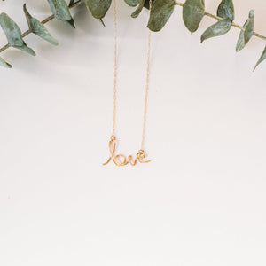 Love Necklace in Script