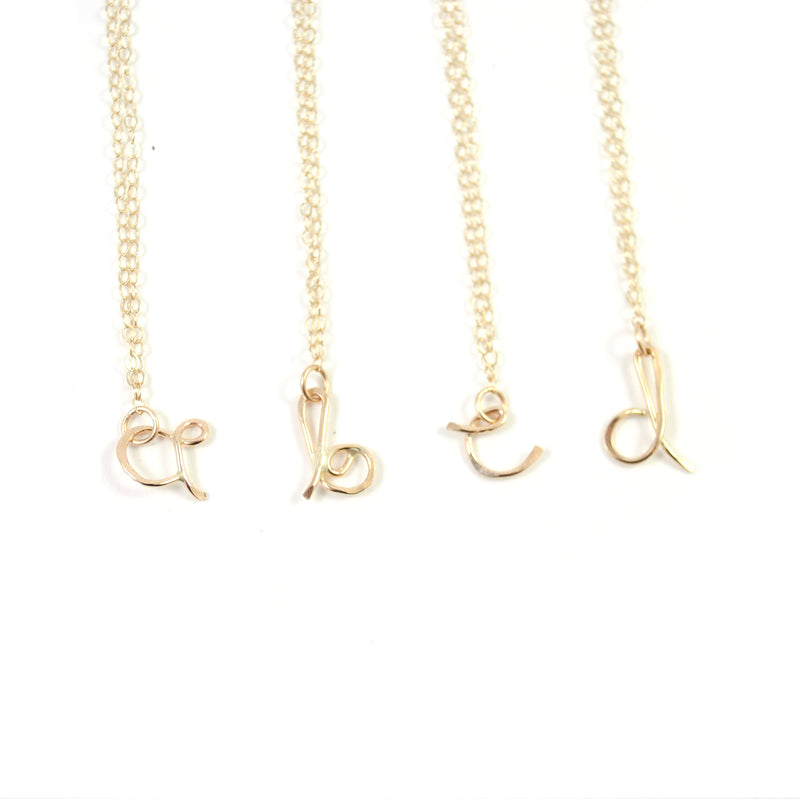Initial Letter Necklace - Lowercase