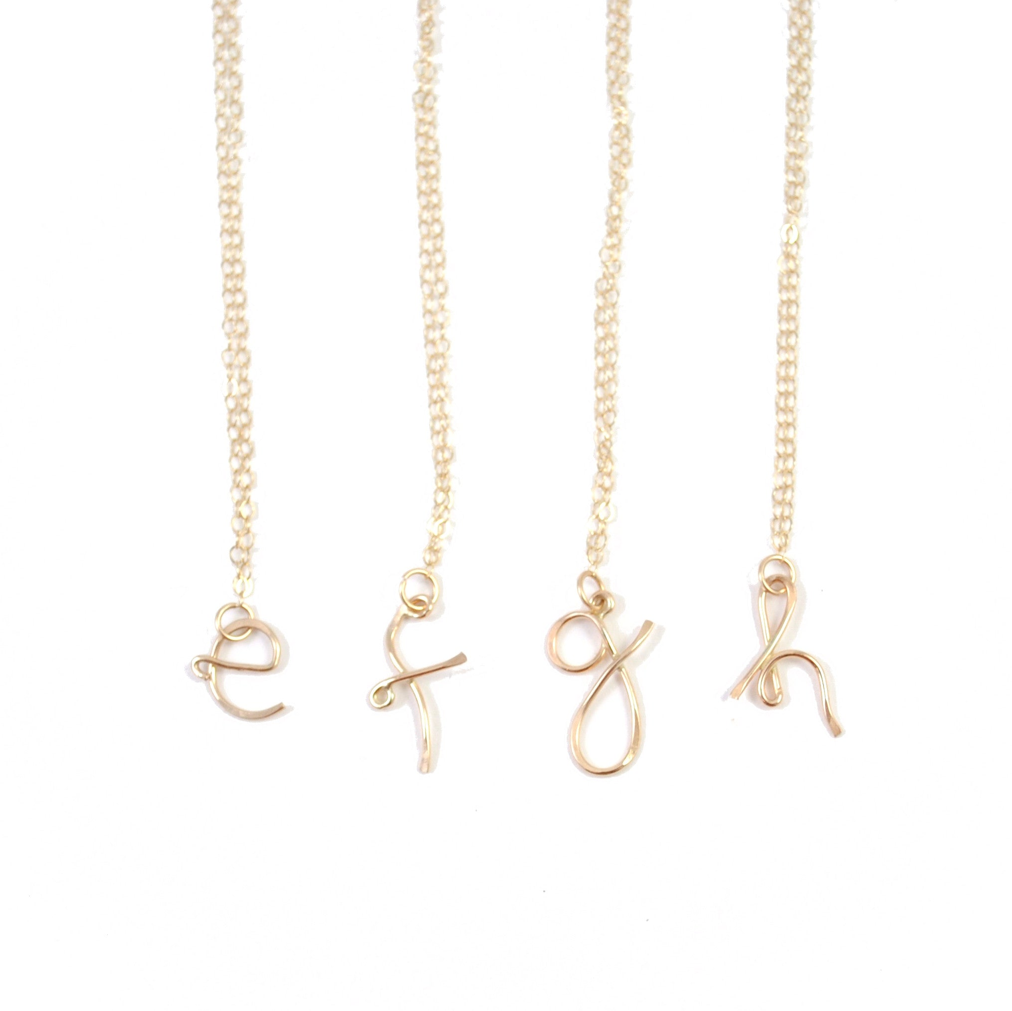 shop alphabet crafting charm necklace luxury dainty