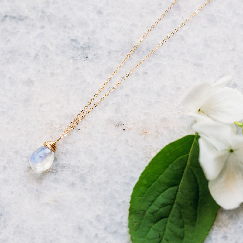 Down The Aisle Necklace - Moonstone, Green Amethyst or Labradorite