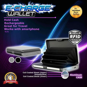 Portable E-Charge Wallet With RFID Blocker