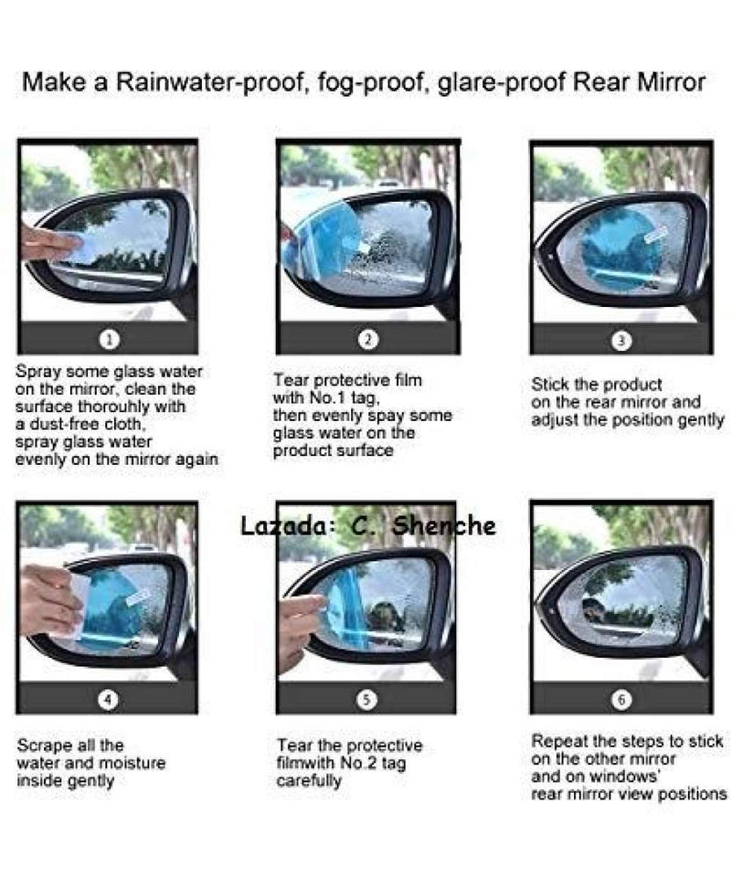 Anti Fog & Anti-glare Waterproof Side Mirror Window Clear Film